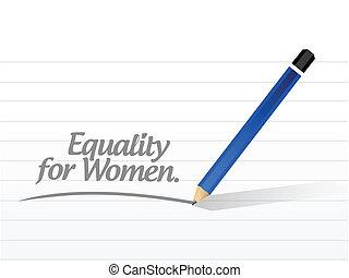 disegno, messaggio, uguaglianza, illustrazione, donne
