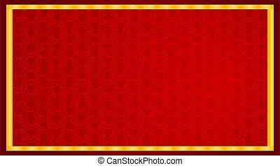 disegno, modello, astratto, sfondo rosso