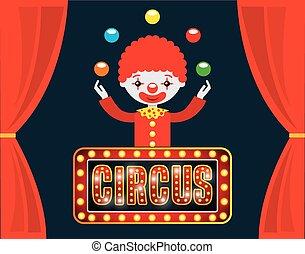 disegno, mostra, circo