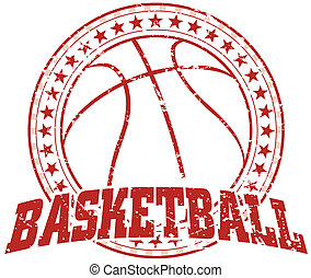 disegno, pallacanestro, -, vendemmia