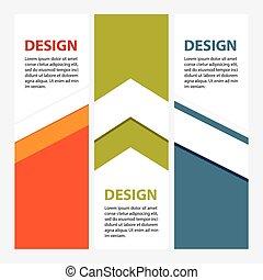 disegno, pulito, numero, bandiere, template/graphic, o, sito web, layout., vettore
