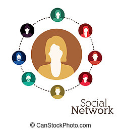 disegno, rete, sociale