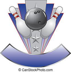 disegno, sagoma, premio, bowling