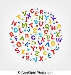 disegno, schizzo, lettere, cornice, tuo