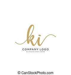disegno, scrittura, logotipo, ki, iniziale
