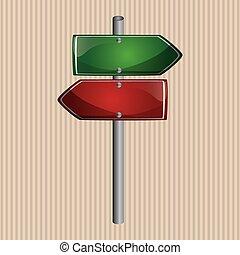 disegno, segno strada