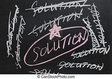 disegno, -, soluzione, lavagna