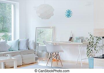 disegno, stanza, sofisticato