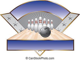 disegno, triangolo, sagoma, bowling