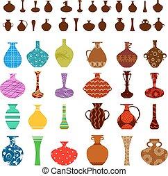 disegno, tuo, collezione, vasi