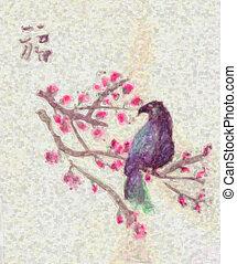 disegno uccello