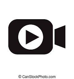 disegno, video, icona, macchina fotografica, illustrazione