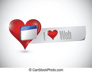 disegno web, amore, illustrazione, segno