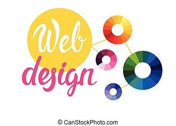 disegno web, grafico, bandiera, creativo