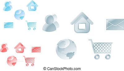 disegno web, icone
