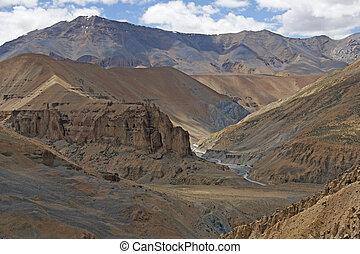 disertare paesaggio, di, ladakh