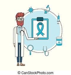 disgnosis, 咨詢, 聽診器, 治療, 醫生