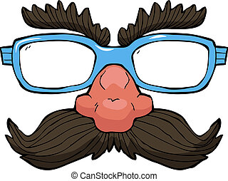 Disguise glasses on white background vector illustration