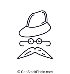 Disguise icon, linear isolated illustration, thin line vector, web design sign, outline concept symbol with editable stroke on white background.