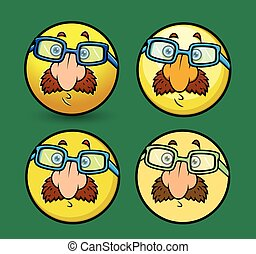 Disguise Smiley Set Vector