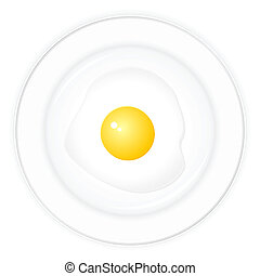 dish and fried egg