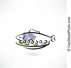 dish fish icon
