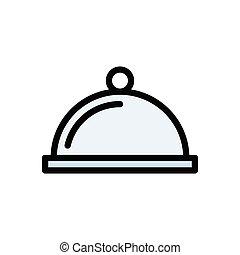 dish  flat color icon