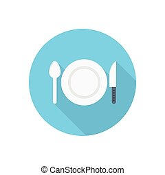 dish  flat color icon
