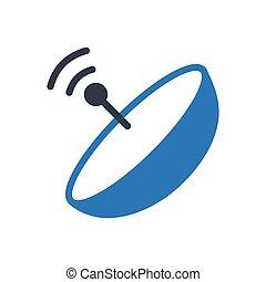 dish glyph color icon