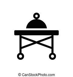 dish  glyph flat icon