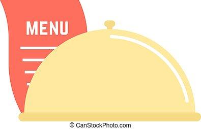 dish icon with menu sheet