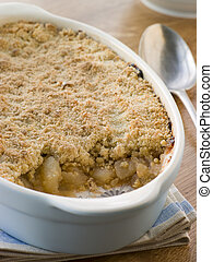 Dish of Apple Crumble