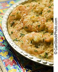 Dish of King Prawn Pasanda