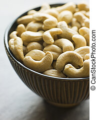 Dish of Roasted Cashew Nuts
