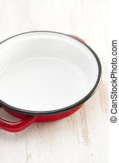 dish on white background
