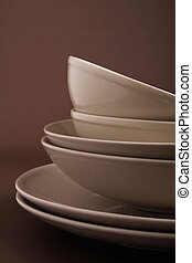 dish, plate and bowl