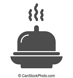Dish solid icon. Tray vector illustration isolated on white. Hotel breakfast glyph style design, designed for web and app. Eps 10.