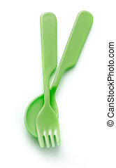 Dish, spoon and fork