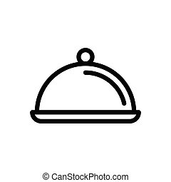 dish  thin line icon