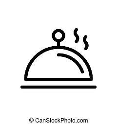 dish  thin line icon