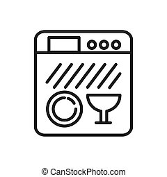 dish washer vector illustration design