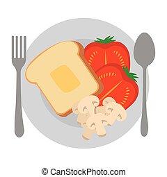 dish with delicious breakfast menu