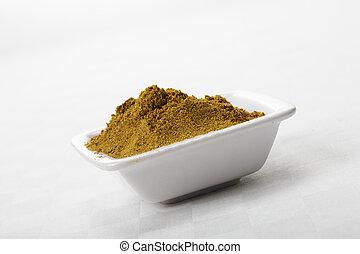 Dish with khmeli suneli spice mixture