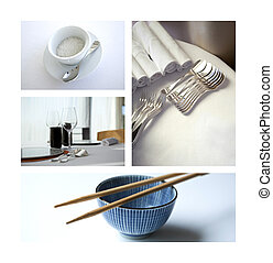 Dishes and cutlery