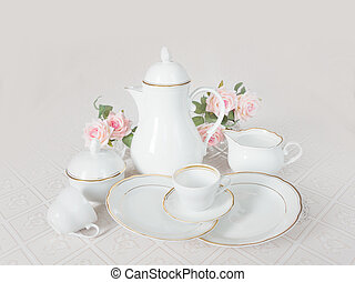 Dishes for tea ore coffee drinking