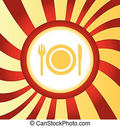 Dishware abstract icon