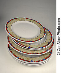 dishware, - dishware ?n a grey background...