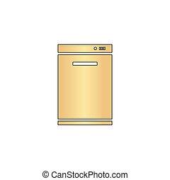 dishwasher computer symbol dishwasher simple line vector vectors illustration search. Black Bedroom Furniture Sets. Home Design Ideas