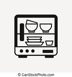 dishwasher clipart black and white. dishwasher icon vector clipartby clipart black and white