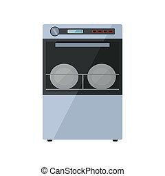 Dishwasher on a white background